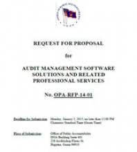 OPA-RFP-14-01 for Audit Management Software Solutions and Related